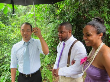 wedding in rain in JA