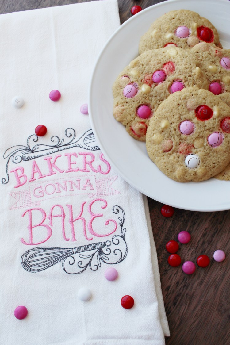 White Chocolate Valentine's Cookies