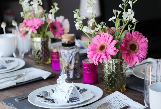 Galentine's Brunch Tablescape from Simply J and K.com