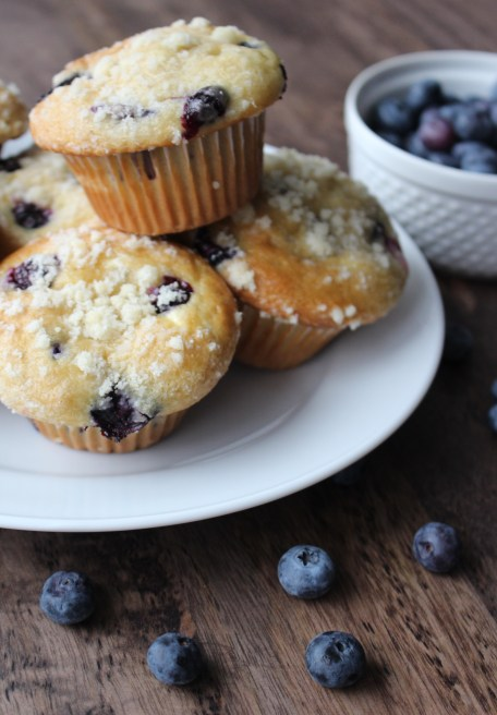 Blueberry Muffins with Cream Cheese FIlling from SImply J and K