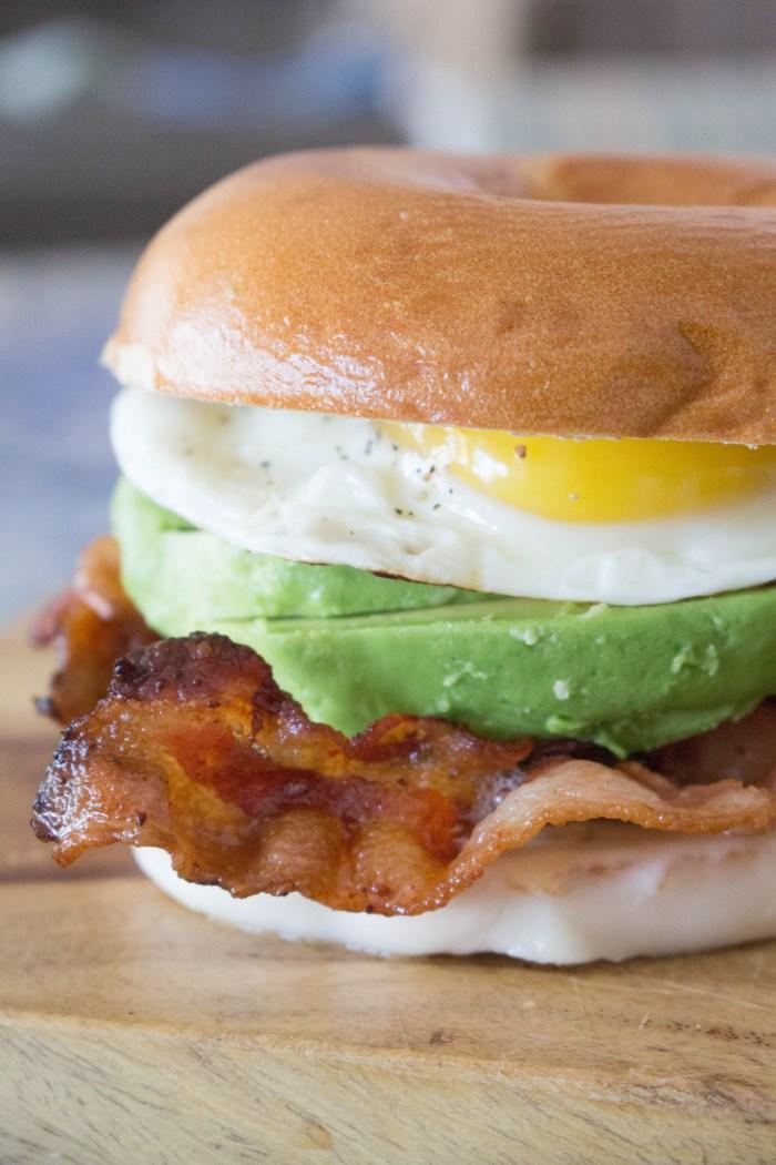 Bacon Avocado Breakfast Sandwich
