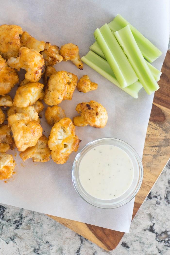 Oven-Baked Buffalo Cauliflower Bites