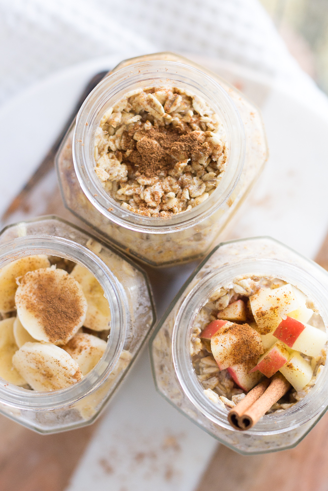 Autumn Inspired Overnight Oats 3 Ways