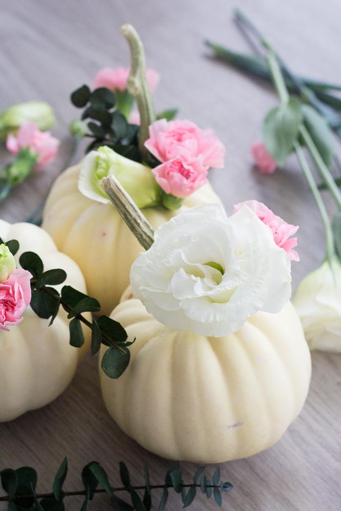 DIY Floral Pumpkin Planter