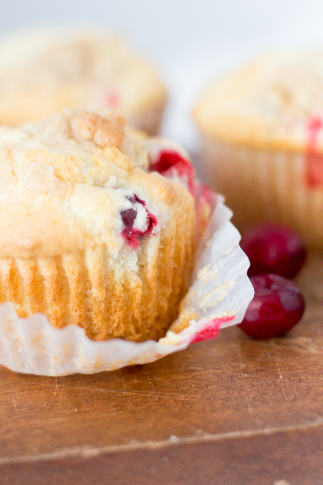 Crazy Good Cranberry Crumble Muffins