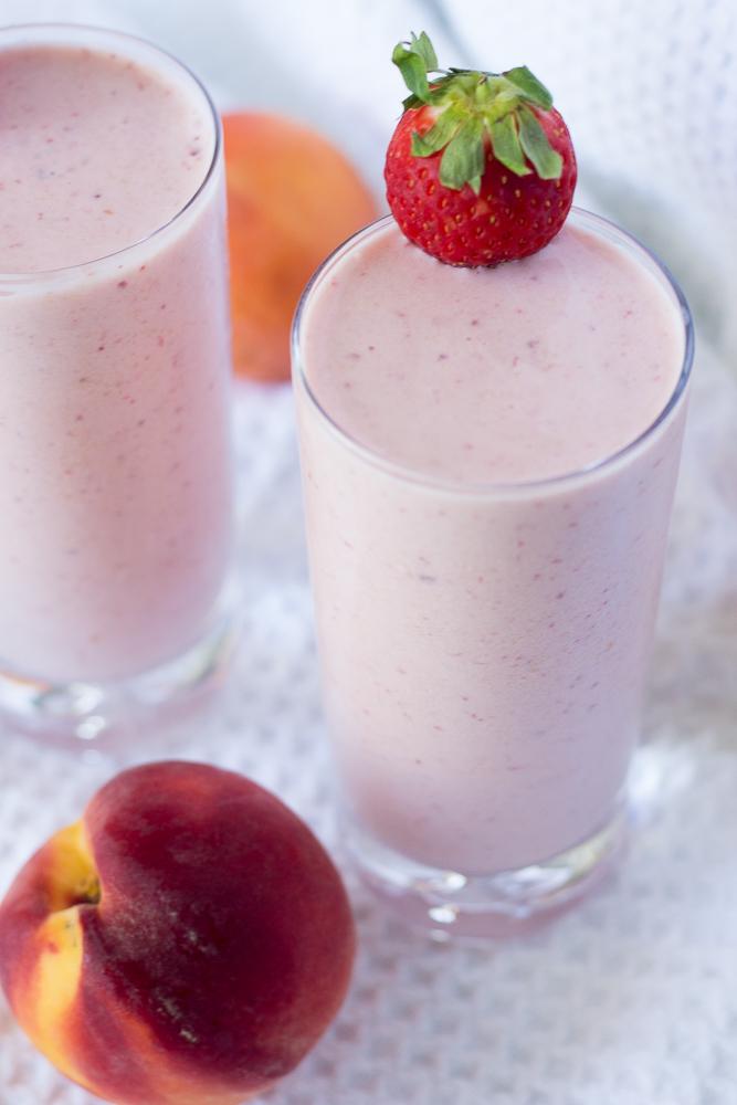 Strawberry Peach Spring Smoothie