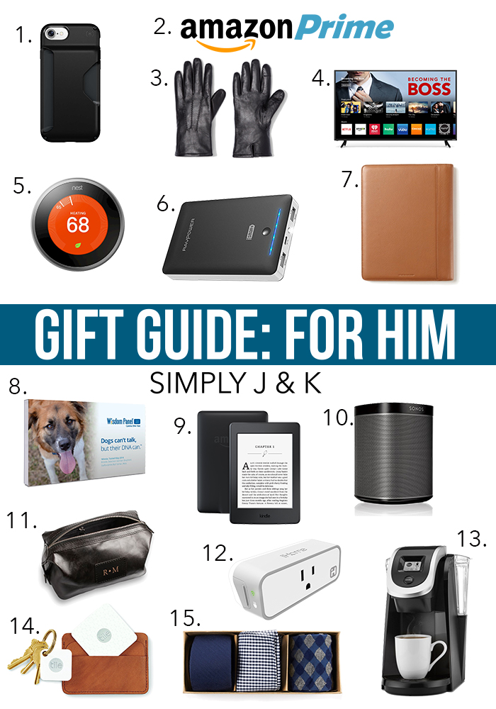 Gift Guide: For Him, By J