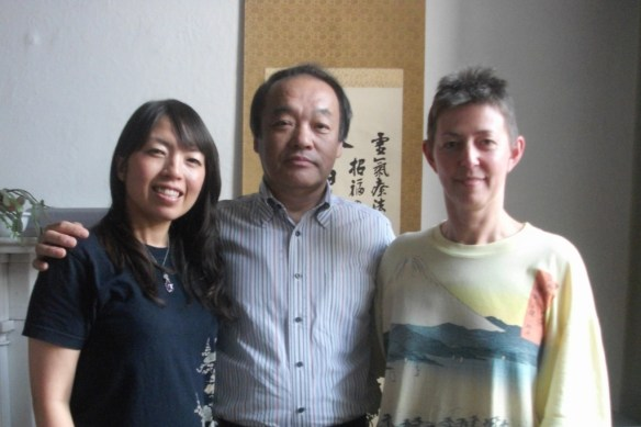 Ruth Hinks at the Jikiden Reiki training with Tadao Yamaguchi in Edinburgh