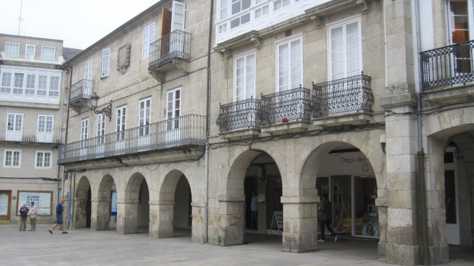 One of many plazas in Lugo