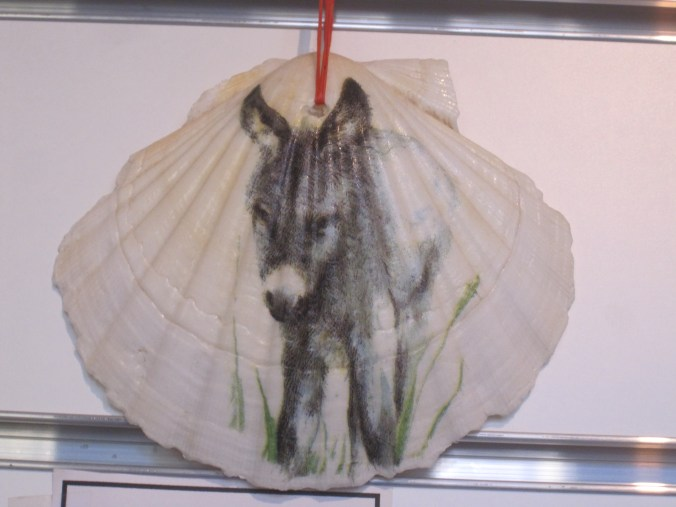one of many donkey objects in the shop of Yves and Thérese