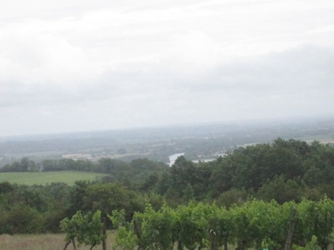 View down the valley of the Dordogne River