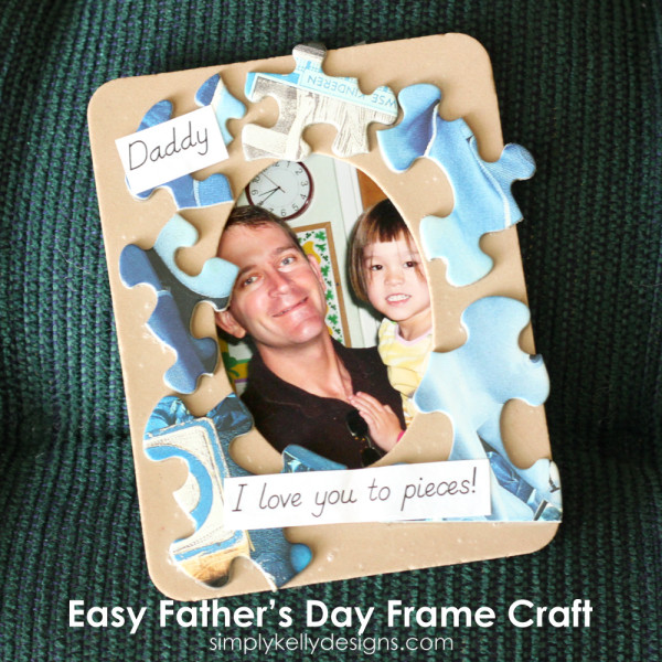 Easy Father's Day Frame Craft by Simply Kelly Designs #fathersday