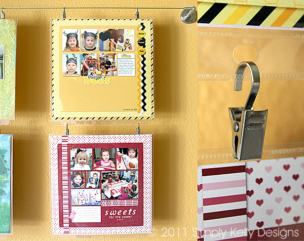 Displaying Art or Scrapbook Layouts | Simply Kelly Designs