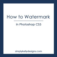 Photoshop CS5: Watermarking