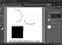 New Custom Text Paths In Photoshop Elements 10