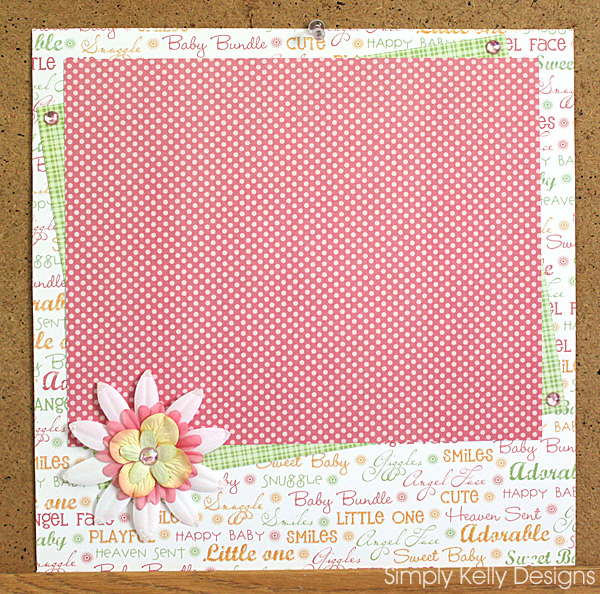 Baby Girl Layout Inspiration by Simply Kelly Designs