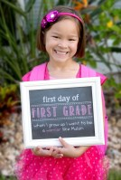Faux Chalkboard Sign For First Day of School by Simply Kelly Designs #backtoschool