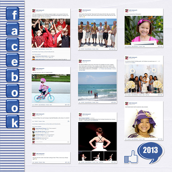 Year In Review Layout Inspiration: Facebook/Social Media