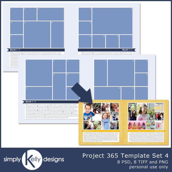 Project 365 Template Set 4 by Simply Kelly Designs