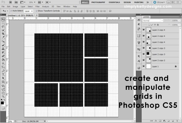 Creating and Manipulating Grids in Photoshop CS5 by Simply Kelly Designs