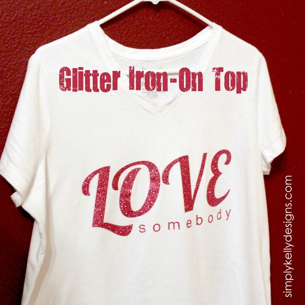 Glitter Iron-On Top by Simply Kelly Designs #Silhouette #glitter #heattransfervinyl