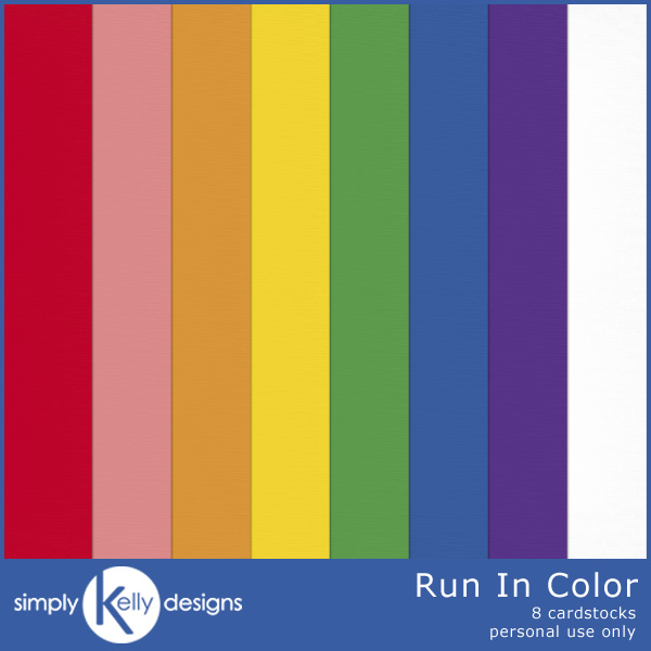 Run In Color Cardstock by Simply Kelly Designs
