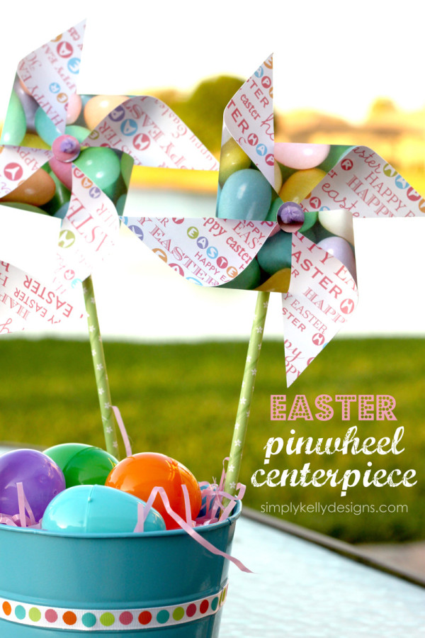 Easter Pinwheel Centerpiece by Simply Kelly Designs