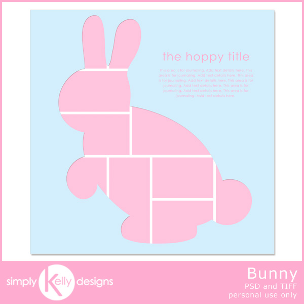 Bunny Digital Scrapbooking Template by Simply Kelly Designs