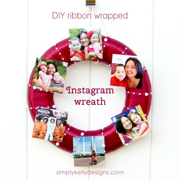 DIY Ribbon Wrapped Instagram Wreath by Simply Kelly Designs