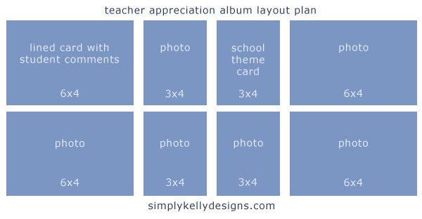 Teacher Appreciation Album Layout by Simply Kelly Designs #ProjectLife #Teacher Appreciation