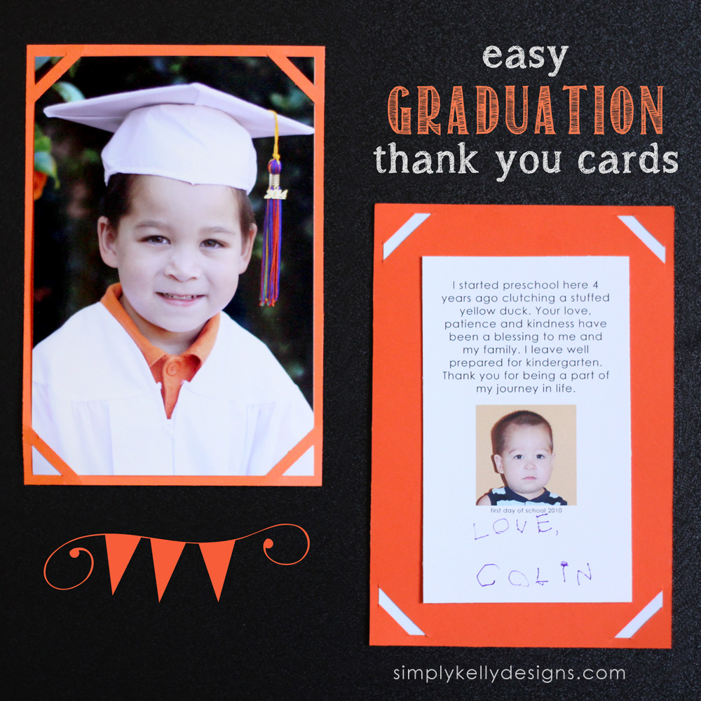 Easy Graduation Thank You Cards And Last Day Of Preschool