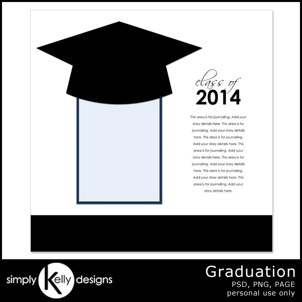 Graduation Template by Simply Kelly Designs