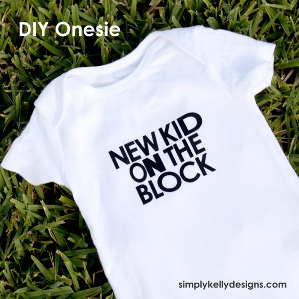 DIY New Kid On The Block Onesie by Simply Kelly Designs #onesie #baby #genderneutral #NKOTB