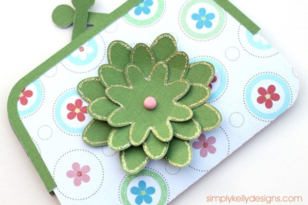 Paper Purse Gift Card Holder by Simply Kelly Designs #papercrafting #flowers #giftcardholder