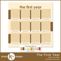 The First Year Template by Simply Kelly Designs #digiscrap
