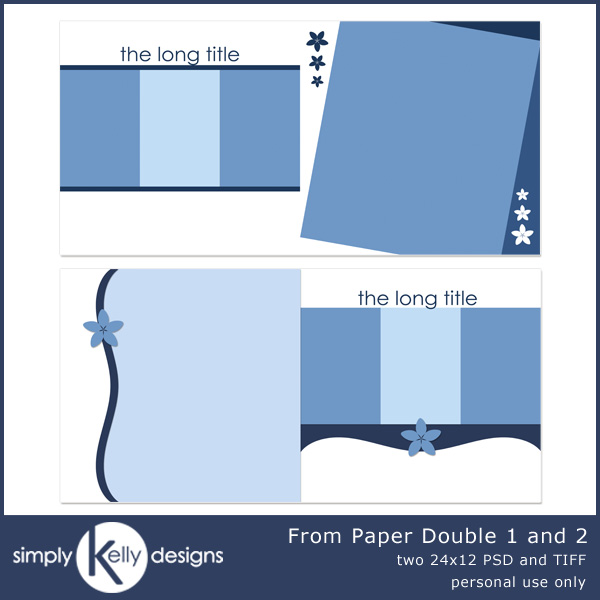 From Paper Double Templates 1 and 2 by Simply Kelly Designs #digiscrap