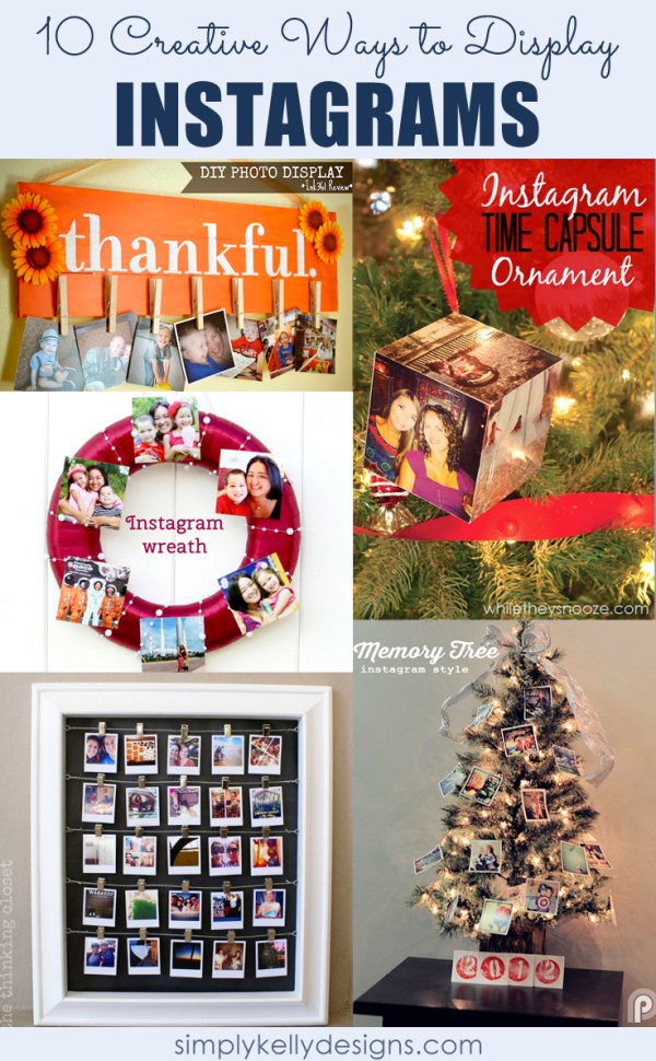 10 Creative Ways To Display Instagrams by Simply Kelly Designs #Instagram #PhotoDisplay