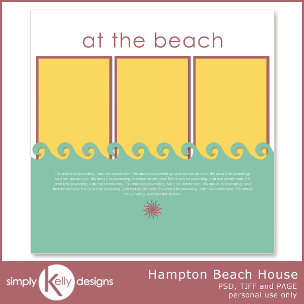 Hampton Beach House Template by Simply Kelly Designs #digiscrap