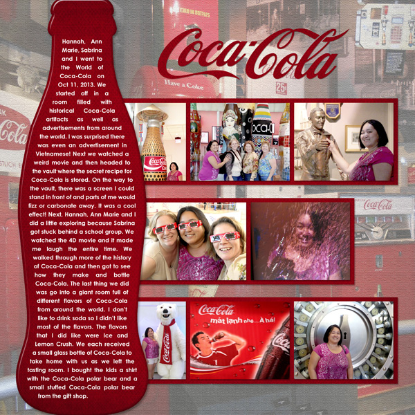 World of Coke Scrapbook Layout by Simply Kelly Designs