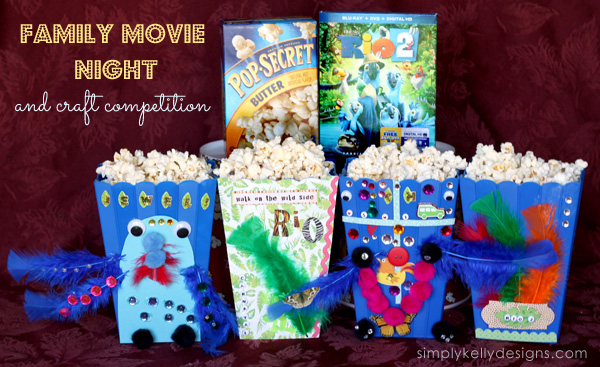 Family Movie Night and Craft Competition by Simply Kelly Designs