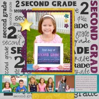 First Day of School Scrapbook Layouts