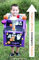 Build Confidence Through Crafting | Halloween Express Train Box Costume