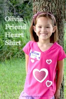 Olivia Friend Heart Shirt With Free Cut File