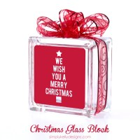 We Wish You A Merry Christmas Glass Block With Free Cut File