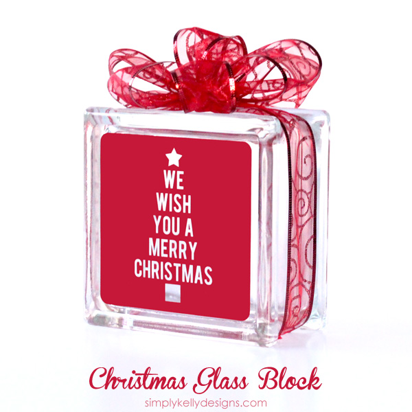 we wish you a merry christmas glass block with free cut file by simply kelly designs - Christmas Glass Blocks