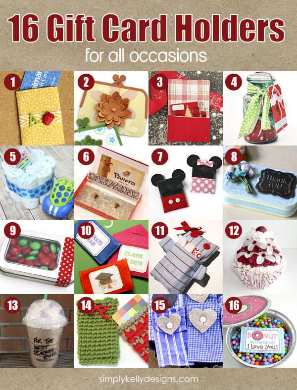 16 Gift Card Holders For All Occassions | Simply Kelly Designs