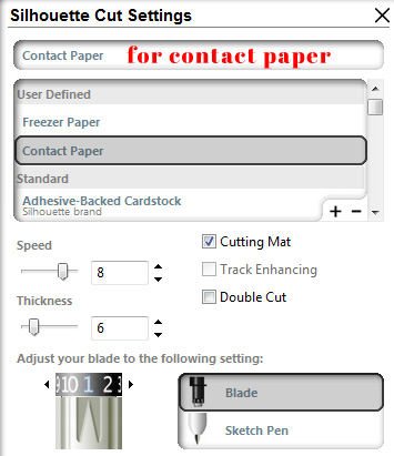 Silhouette Cut Settings for Contact Paper | Simply Kelly Designs #SilhouetteRocks #cutsettings #contactpaper
