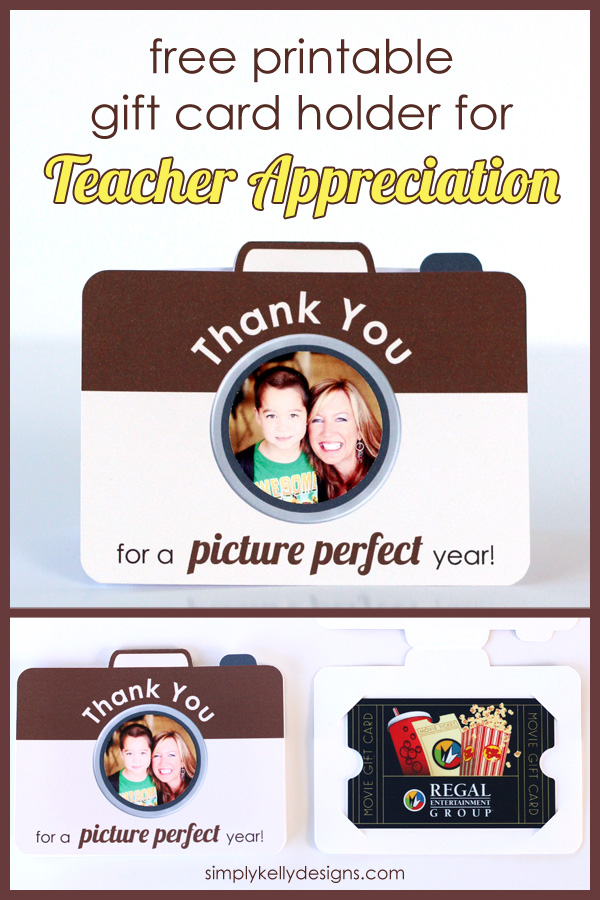 Thank You For A Picture Perfect Year Printable Teacher Appreciation Gift Card Holder by Simply Kelly Designs #teacherappreciation #giftcardholder #craftlightning #printable #papercrafting #cards #simplykellydesigns