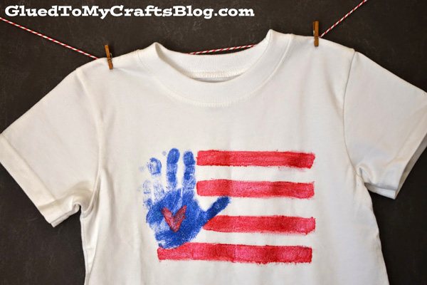 Handprint Patriotic Shirt by Glued To My Crafts