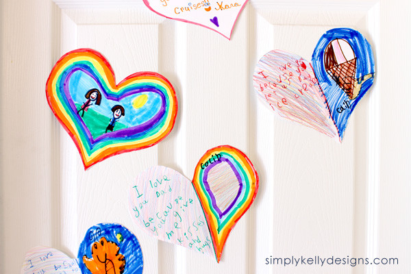 create this door of hearts to let someone know why you love them!